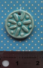Load image into Gallery viewer, Aquamarine Sand Dollar Pendant