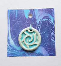 Load image into Gallery viewer, Aqua Blue Spiral Pendant