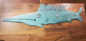 swordfish cut out .. ready to hang original