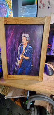 Lindsey Buckingham 9x11 framed signed print