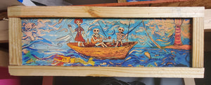 "ship of fools 9x24"" framed print"