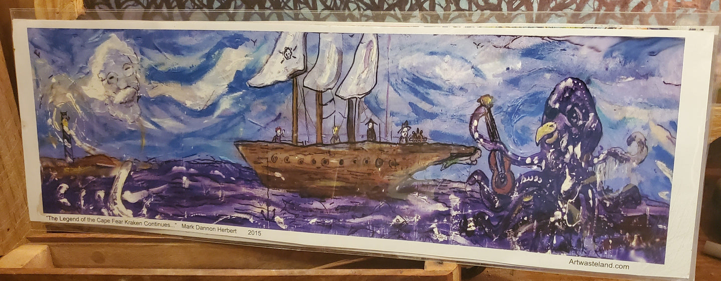 unframed  cape fear kraken 2 print 5x16