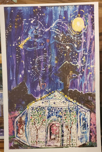 11x17 unframed Airlie nights paper primtn