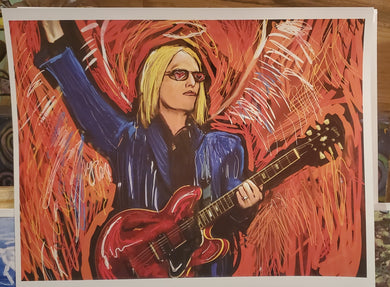 tom petty digital 8x10 print signed
