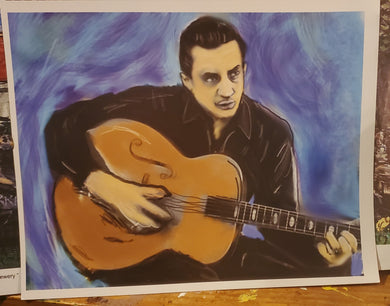 johnny cash  digital 8x10 print signed