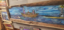 Load image into Gallery viewer, Ship of fools: shipwreck  original 4 foot  painting