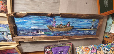 Ship of fools: shipwreck  original 4 foot  painting
