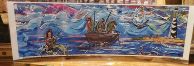 unframed  signed ship of fools : terapin station  print 5x16