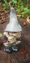 Load image into Gallery viewer, another little gnomey homey 3 inch tall handmade ceramic scuplture