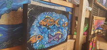 Load image into Gallery viewer, original fish painting 16x10 built   wood panel ready to hang