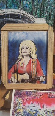 scratch and dent 9x12 framed print Dolly Parton