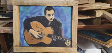scratch and dent 9x12 framed print Johnny cash