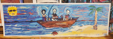 5x16 signed paper print in poly bag Ship of fools: lost Island