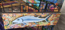 "Load image into Gallery viewer, 24x7 original fish painting ""wild caught""  by Mark Herbert"
