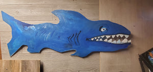 4ft painted shark