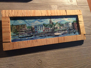 Wilmington Riverfront print framed Signed