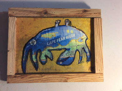 Cape fear crab framed print