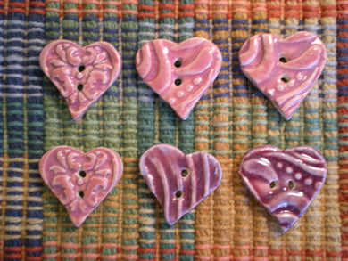 6 inch heart buttons