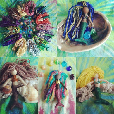 Mermaids  fiber art dolls