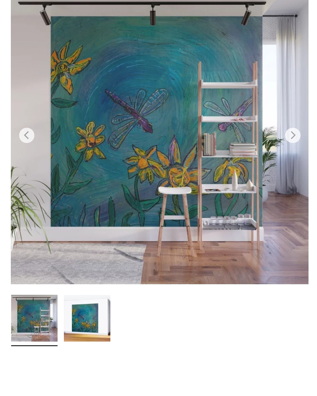 8 ft wall  mural  embellished removable panels