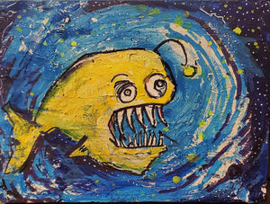 orginal deep sea angler painting