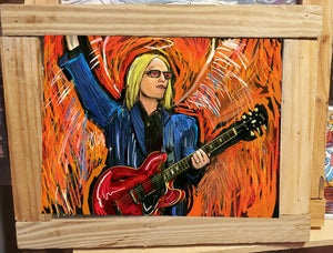 Tom Petty framed print 10x14""