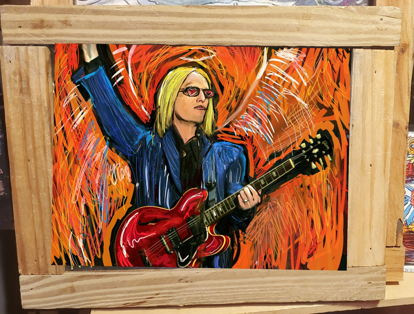 Tom Petty framed print 10x14
