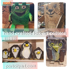 Load image into Gallery viewer, owl folk art critter