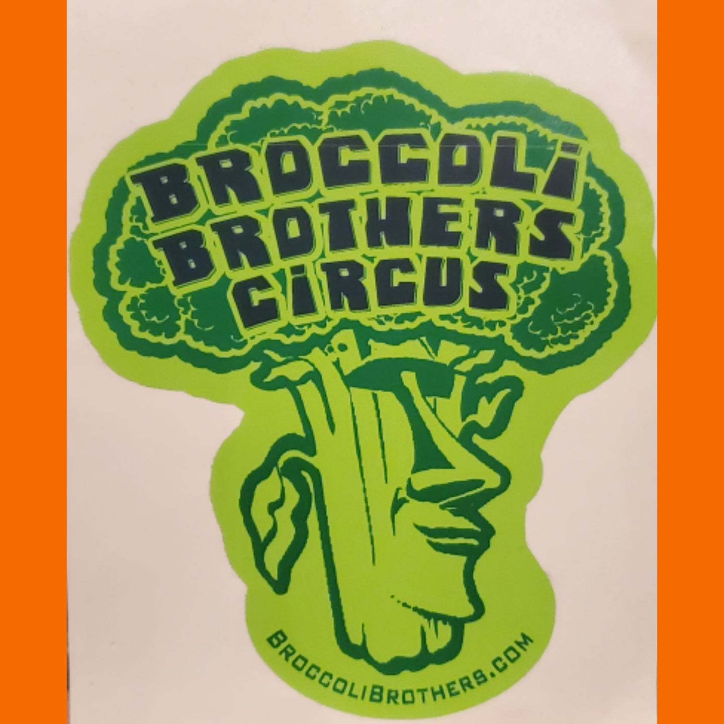 Broccoli brothers circus large bumper sticker 3 pack