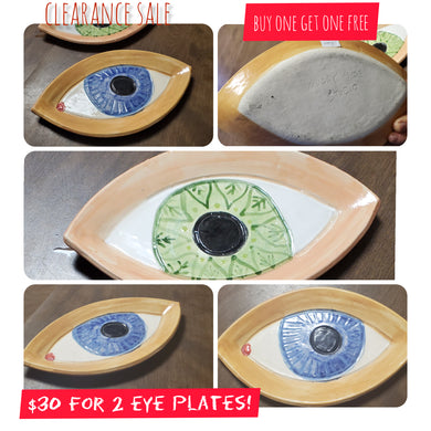 clearance  2 eye plates 15 inch