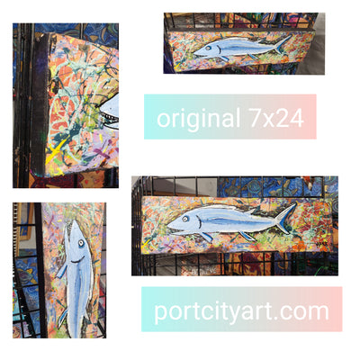 24x7 original fish painting