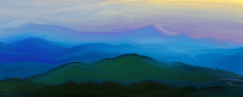 Blue ridge dreams prints unframed signed in poly sleeve