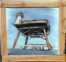 Load image into Gallery viewer, frying pan tower signed framed print