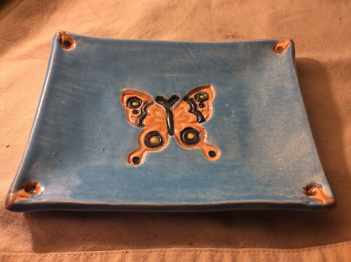 ceramic butterfly soap dish