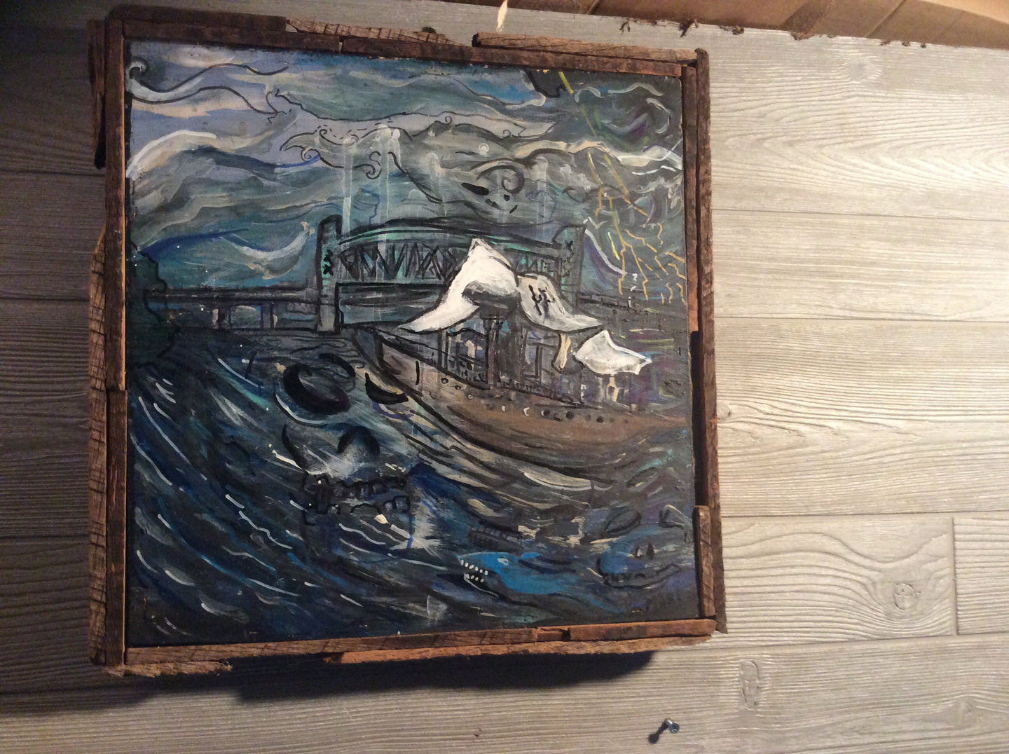 harbor from the heavy seas  original