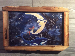 Constellation fisherman 12 x 18 frame glazed print  by Mark Herbert