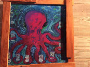 "Wilmington Hoptopus 11""x 11"" framed print"