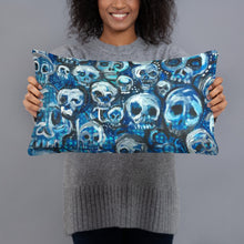 Load image into Gallery viewer, Blue Skulls pillows