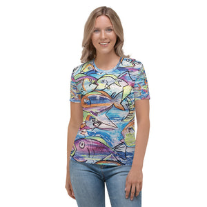 Women's T-shirt tropical fish