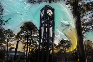 Uncw clock tower prints 10x16  signed
