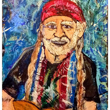 Load image into Gallery viewer, willie Nelson print 17x11 poly bagged