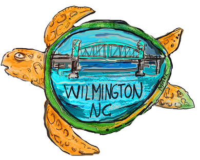 Bubble-free stickers Wilmington Sea turtle