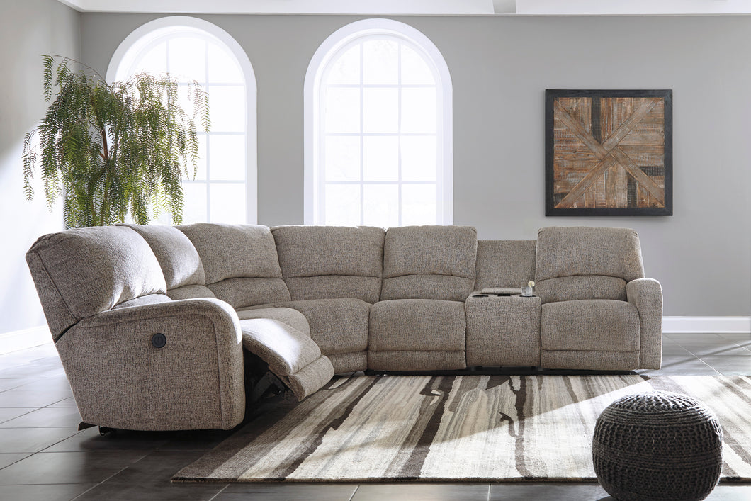 Pittsfield Power Reclining Sectional With Massage, Heat, and COOLING CUPHOLDERS!