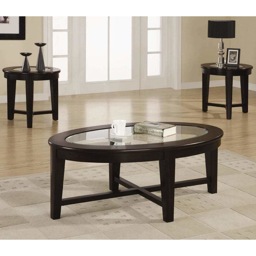 3-Piece Occasional Table Set Cappuccino