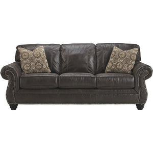 "Breville 90"" Faux Leather Sofa"