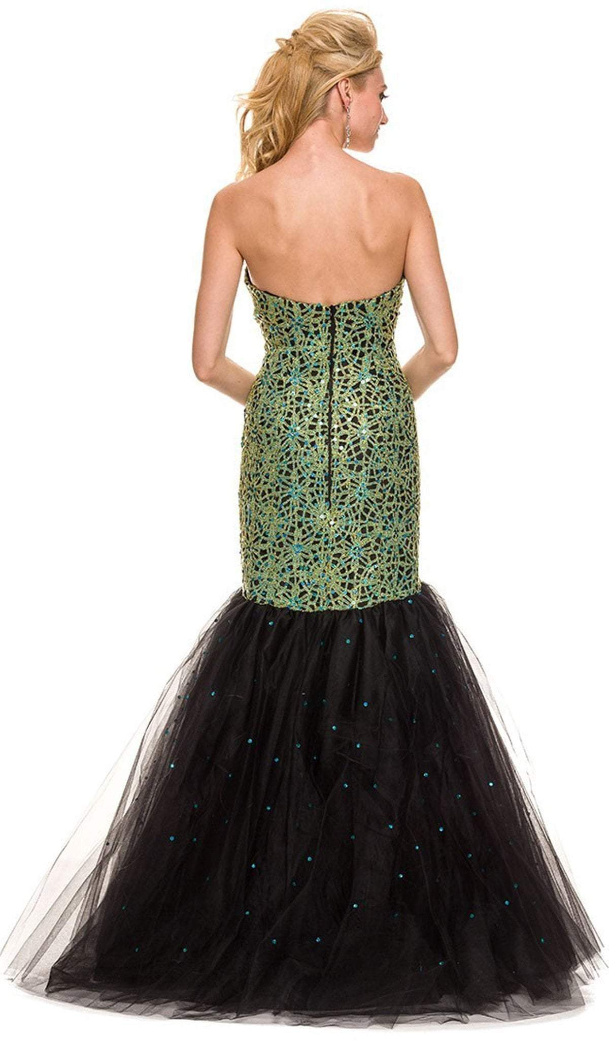 Nox Anabel - Embellished Strapless Mermaid Dress 3123SC