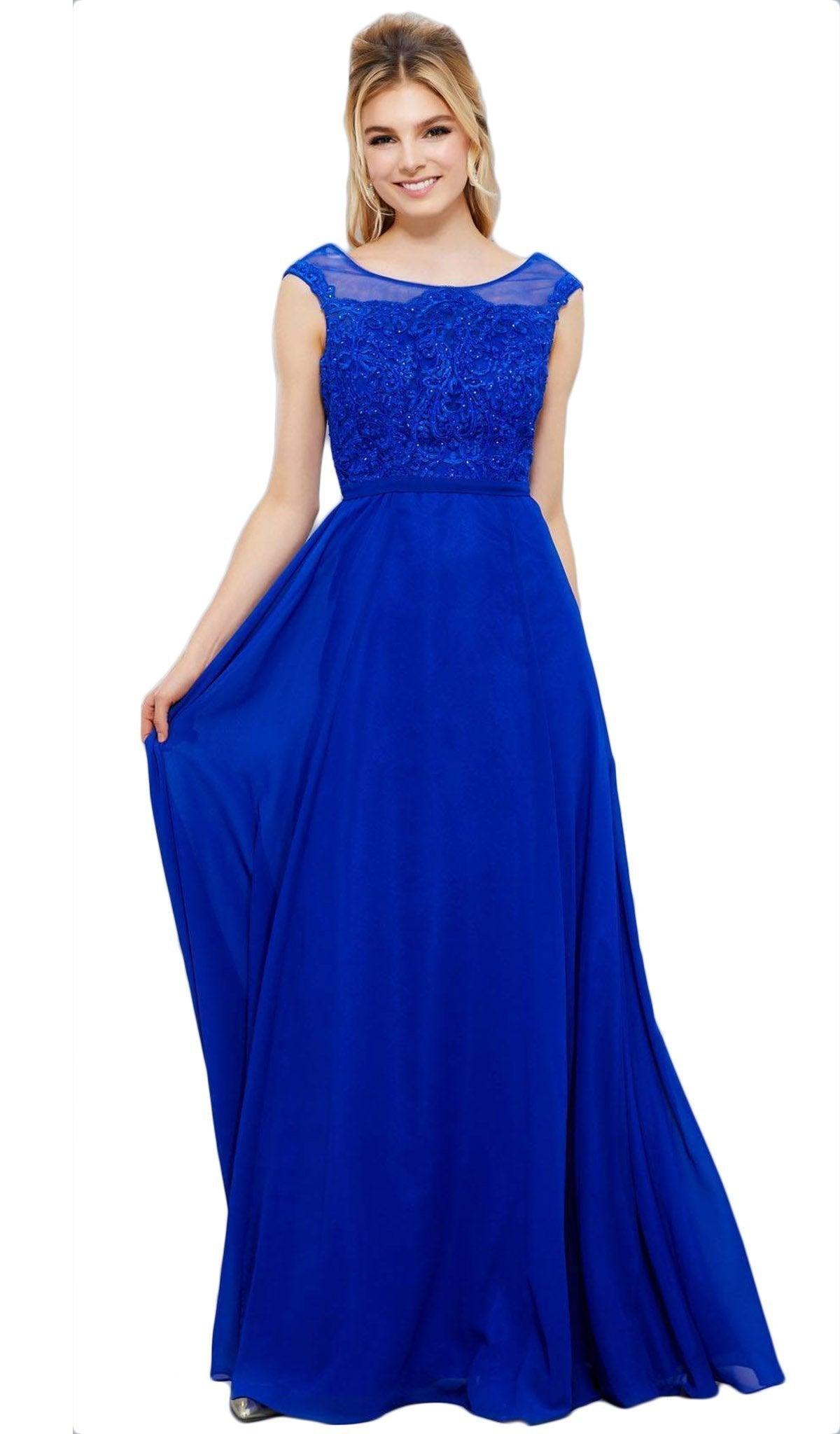 Nox Anabel - Lace Chiffon A-Line Evening Gown 8314SC