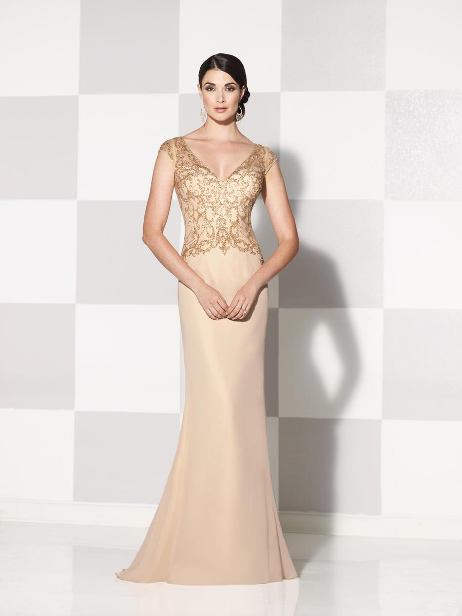 Cameron Blake by Mon Cheri - 115600 Long Dress In Dark Champagne