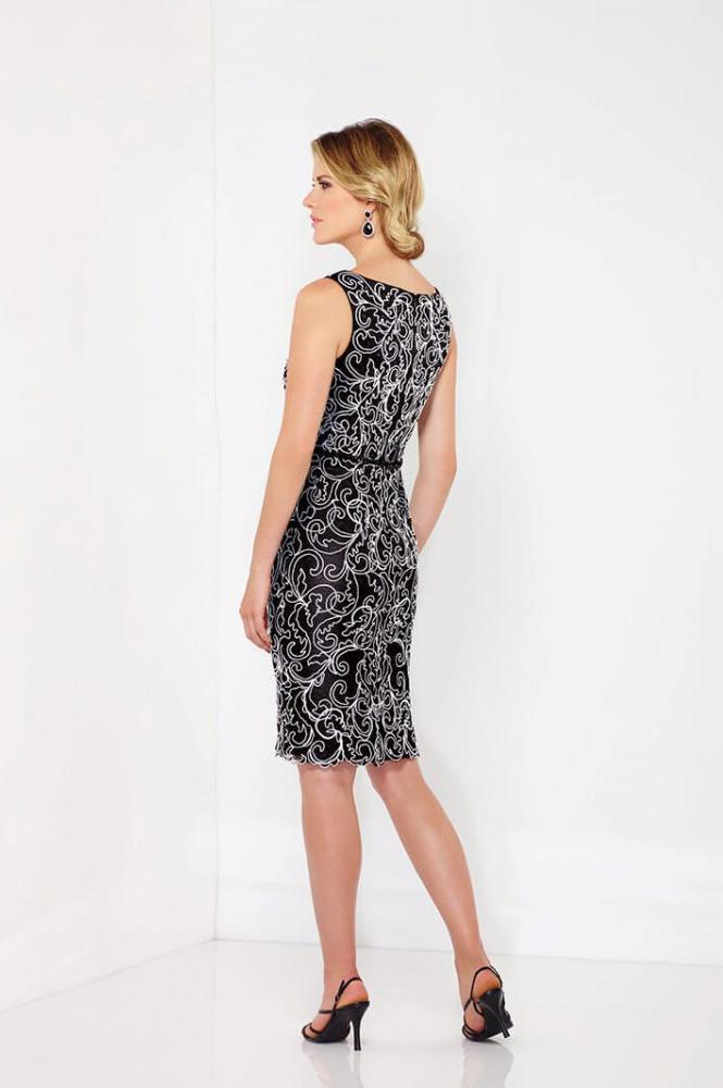 Social Occasions by Mon Cheri - 116852 Dress in Black and White