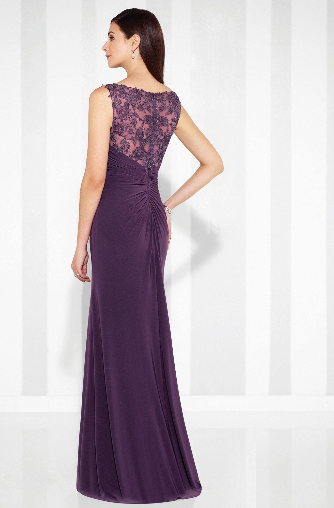 Mon Cheri - Cameron Blake - Fit And Flare Gown 117613 In Purple